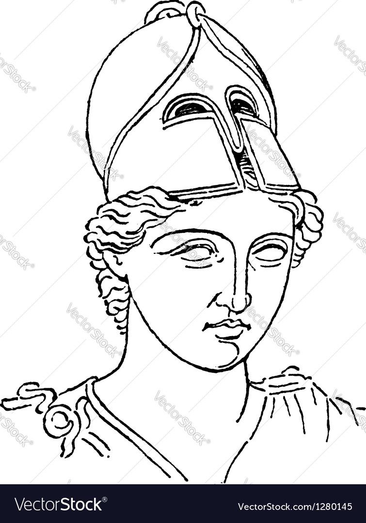 Greek centurion vintage engraving vector | Price: 1 Credit (USD $1)