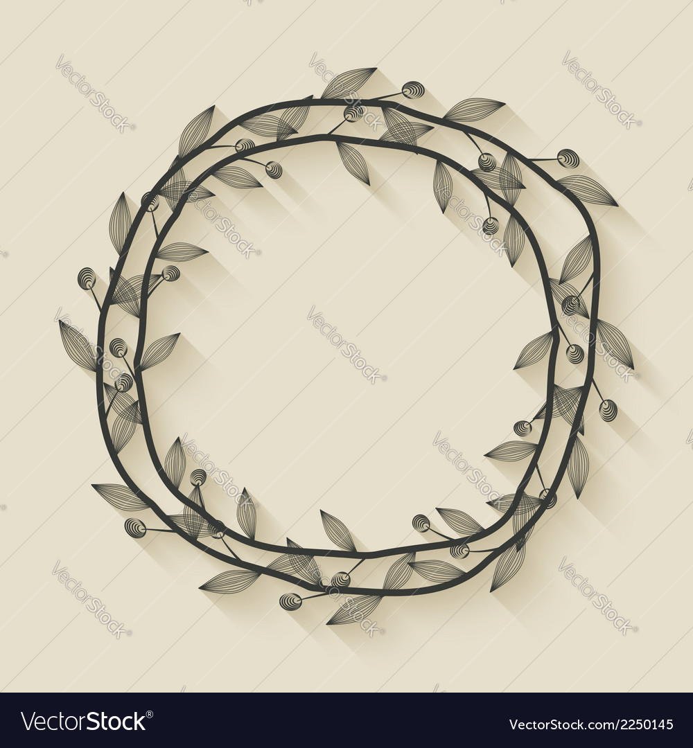 Laurel award wreath vector | Price: 1 Credit (USD $1)
