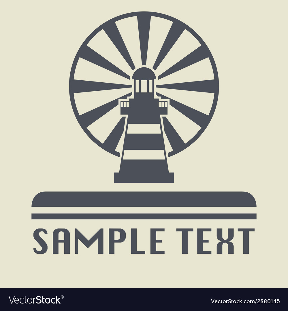 Lighthouse icon vector   Price: 1 Credit (USD $1)