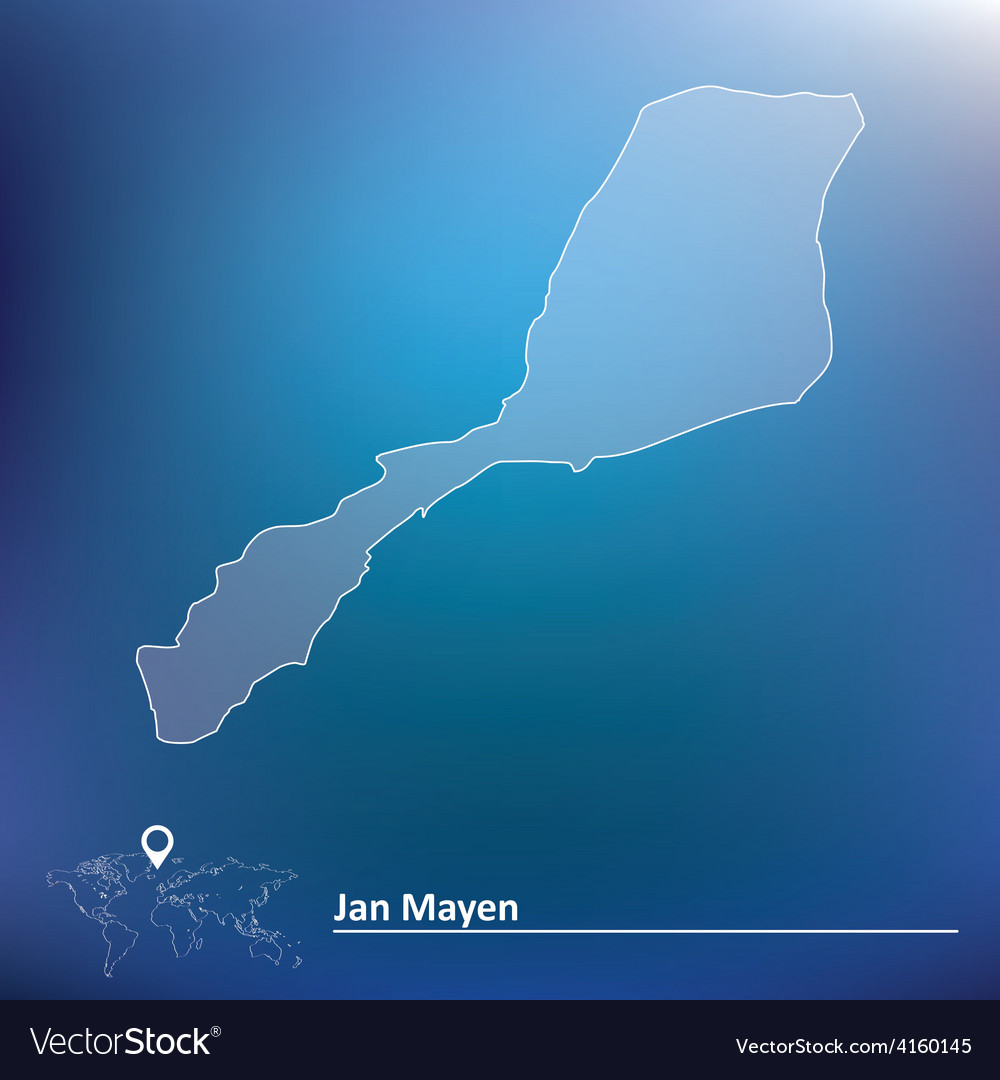 Map of jan mayen vector | Price: 1 Credit (USD $1)