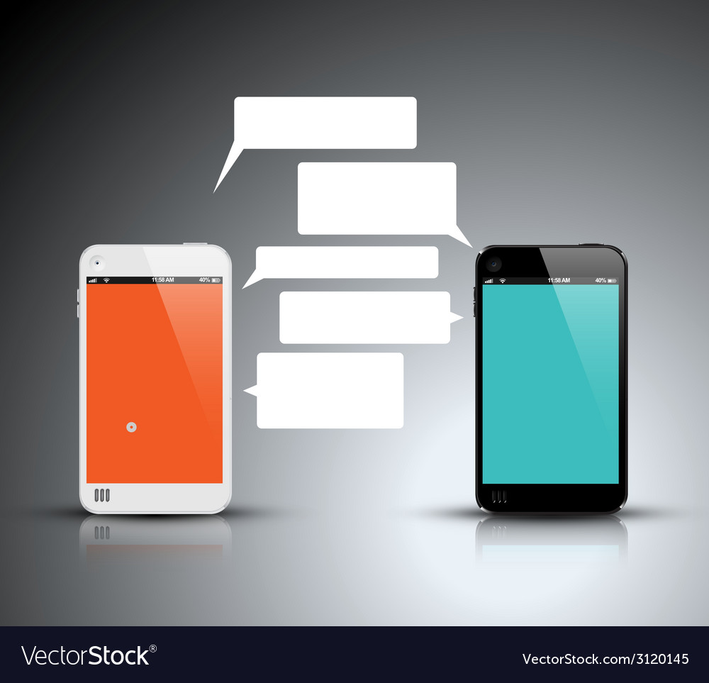 Mobile communication technology - concept vector | Price: 1 Credit (USD $1)