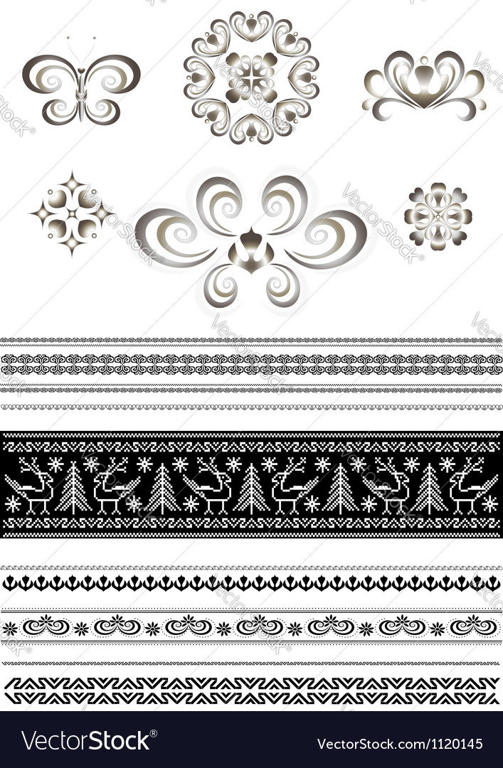 Ornaments and borders for page design vector   Price: 1 Credit (USD $1)