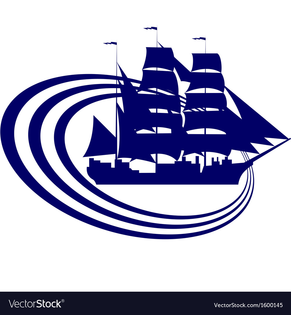 Sailing ship-5 vector | Price: 1 Credit (USD $1)