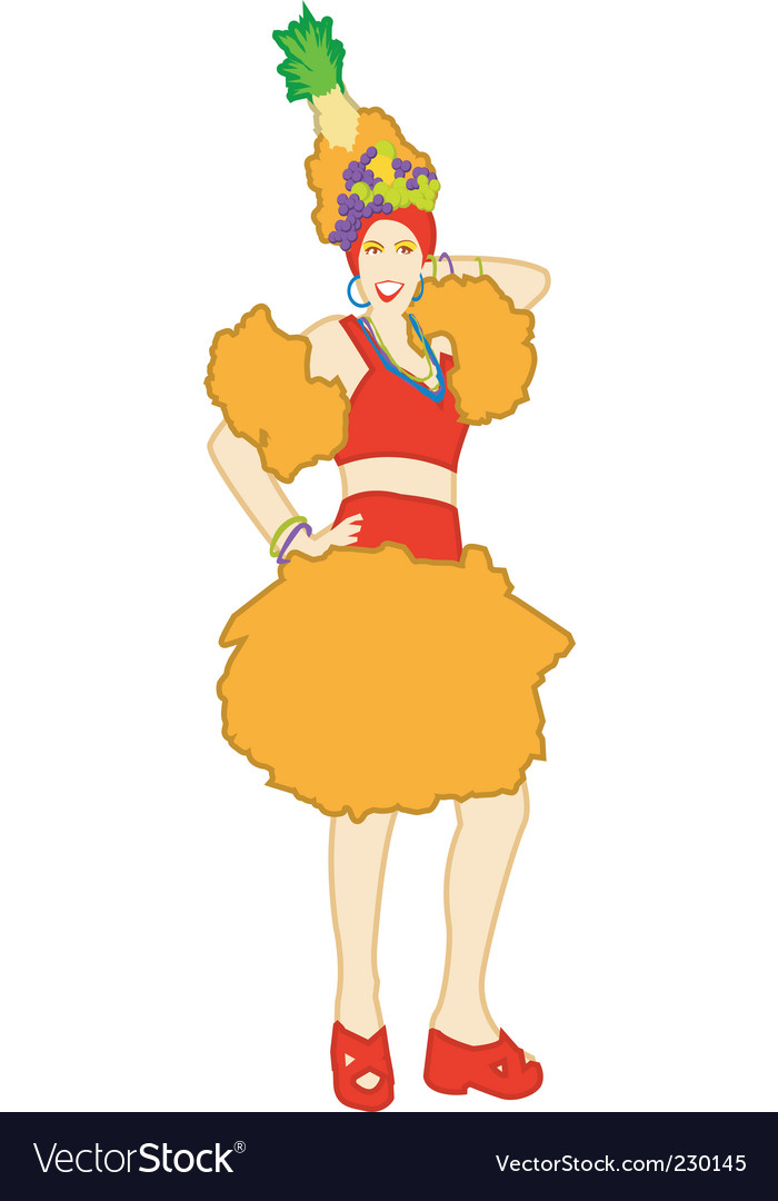 Salsa girl vector | Price: 1 Credit (USD $1)