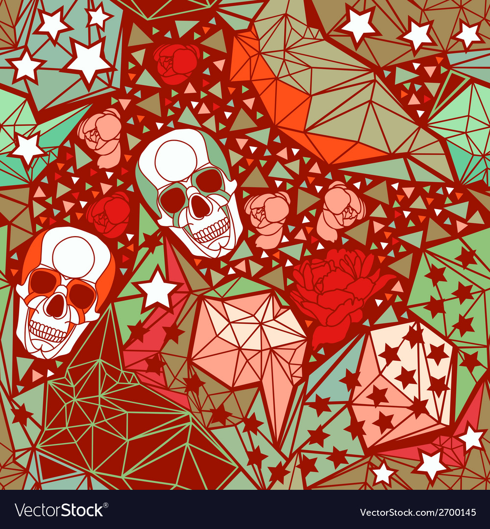 Skull with geometric polygonal ornament vector | Price: 1 Credit (USD $1)