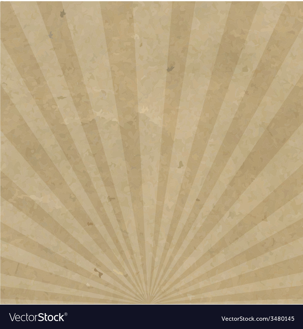 Vintage sunburst cardboard vector | Price: 1 Credit (USD $1)