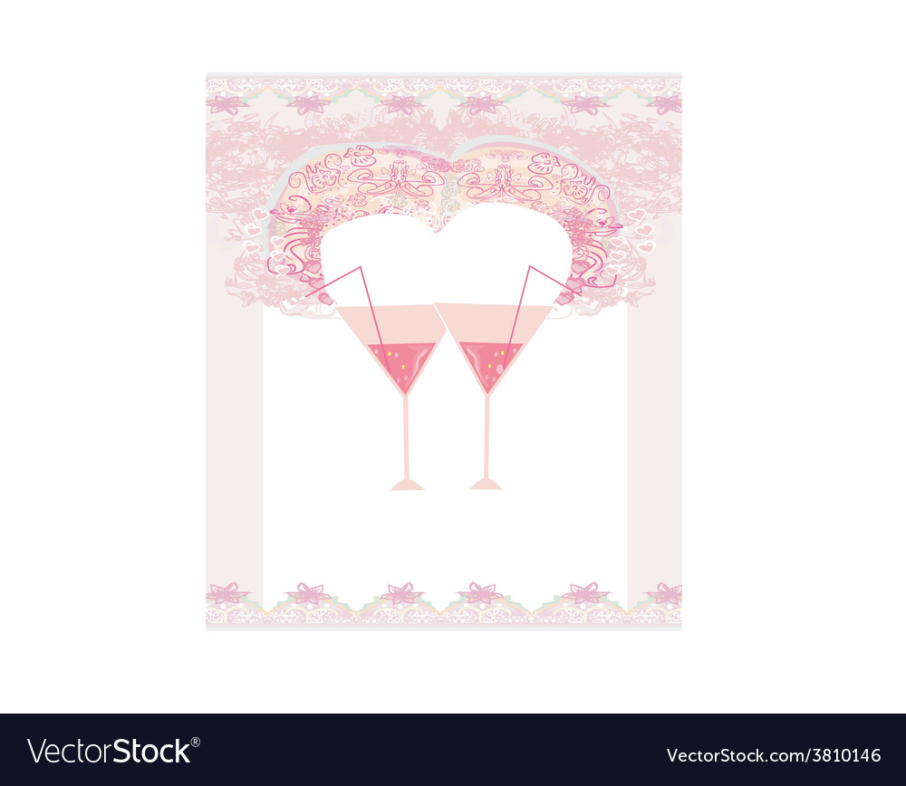 Abstract frame design with cocktail vector | Price: 1 Credit (USD $1)