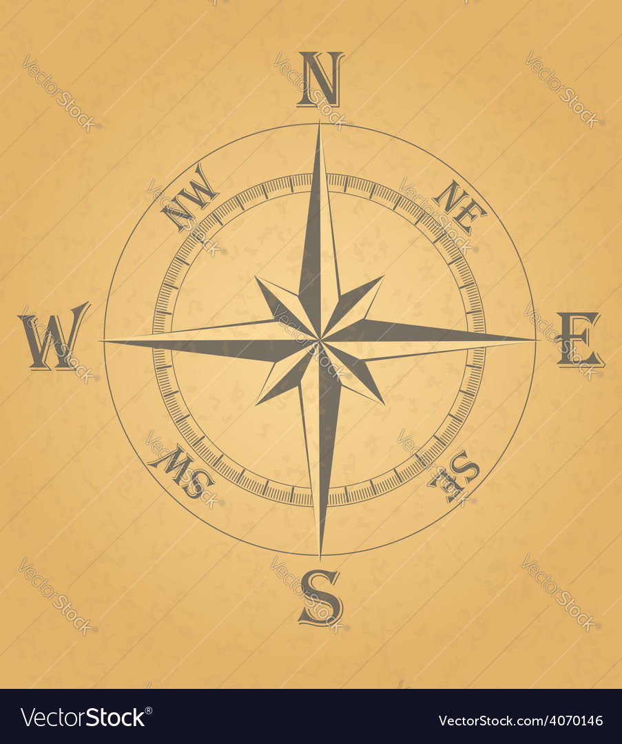 Ancient wind rose 02 vector | Price: 1 Credit (USD $1)