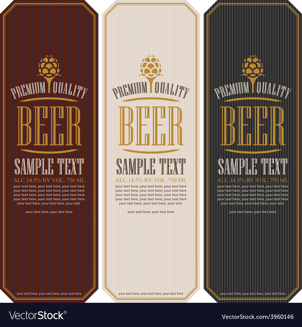 Beer label vector | Price: 1 Credit (USD $1)