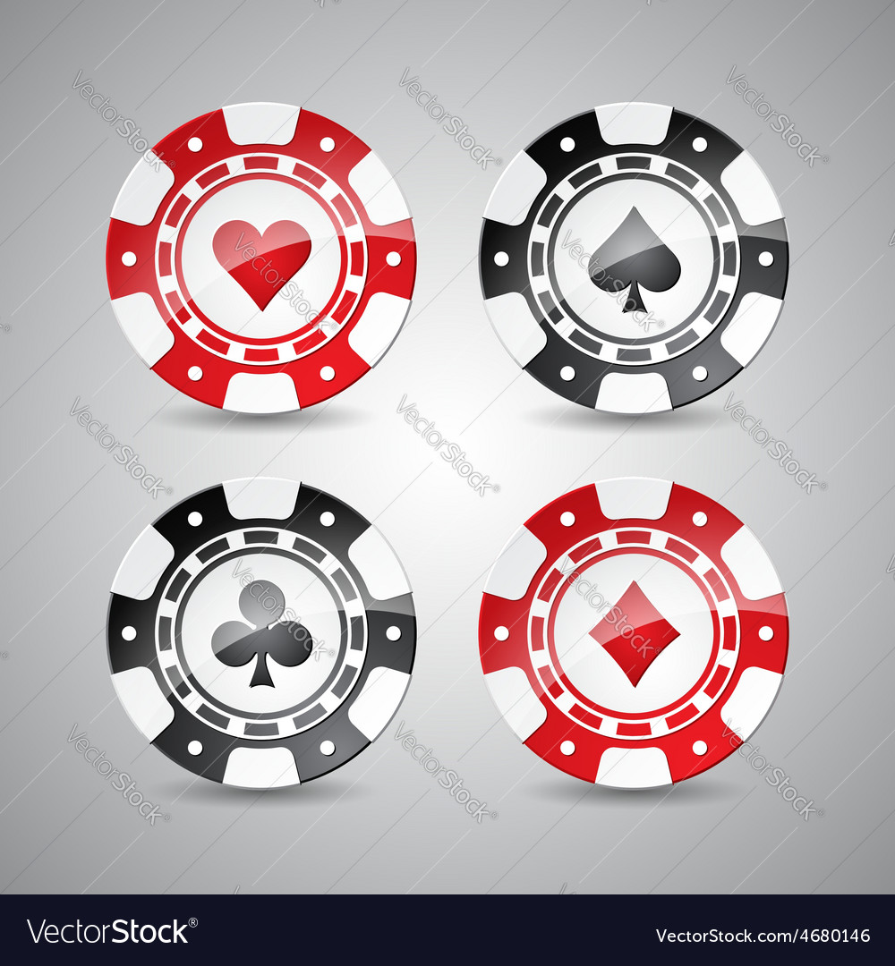 Casino with playing chips set vector | Price: 1 Credit (USD $1)