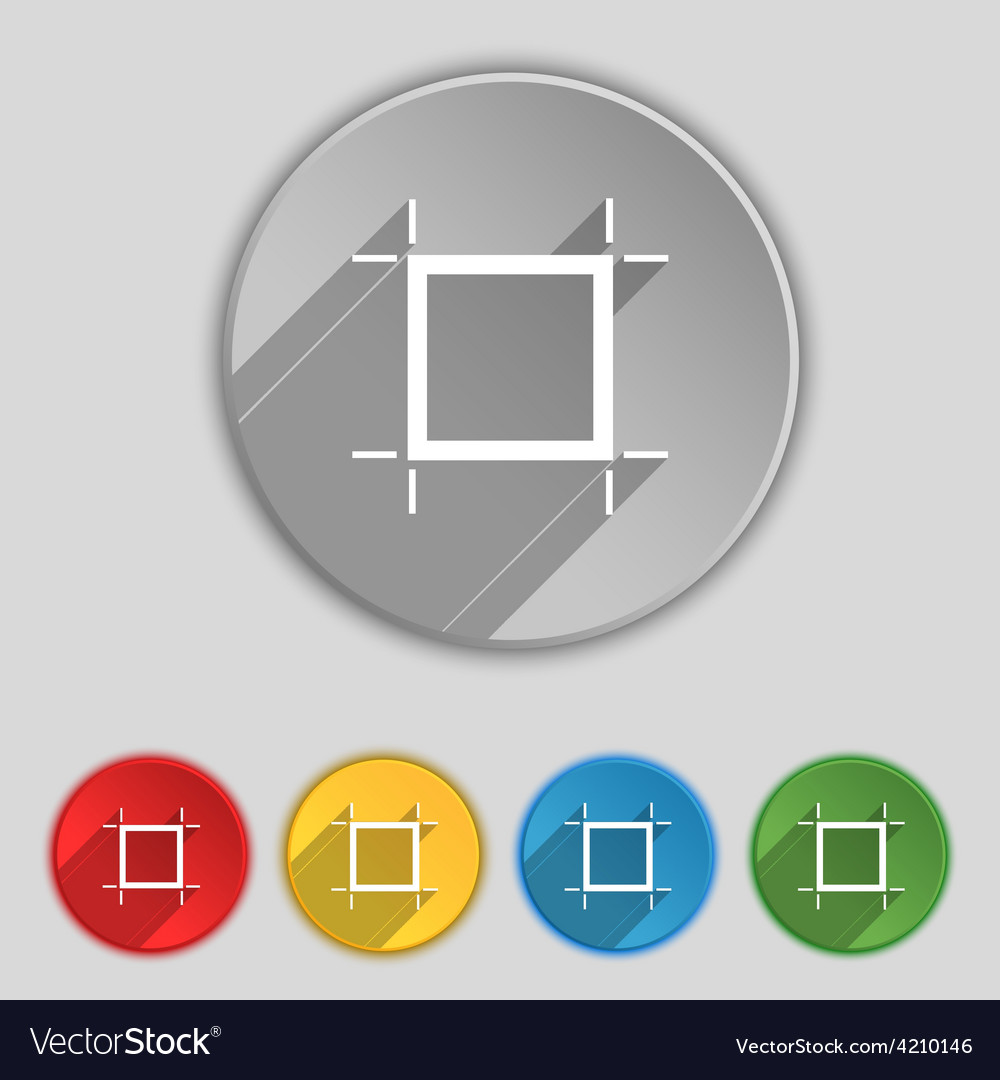 Crops and registration marks icon sign symbol on vector | Price: 1 Credit (USD $1)