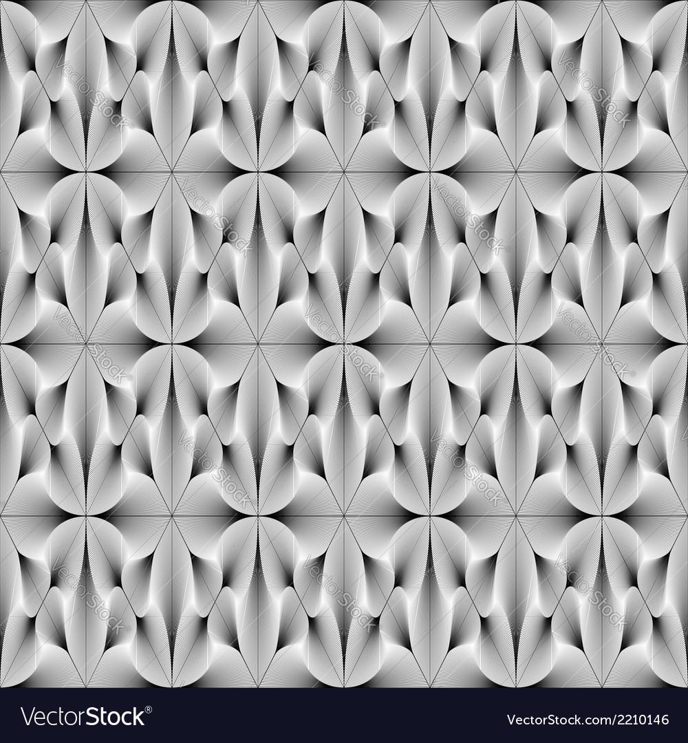 Design seamless monochrome metallic flower pattern vector | Price: 1 Credit (USD $1)