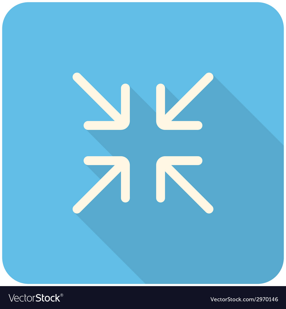 Exit full screen icon vector | Price: 1 Credit (USD $1)