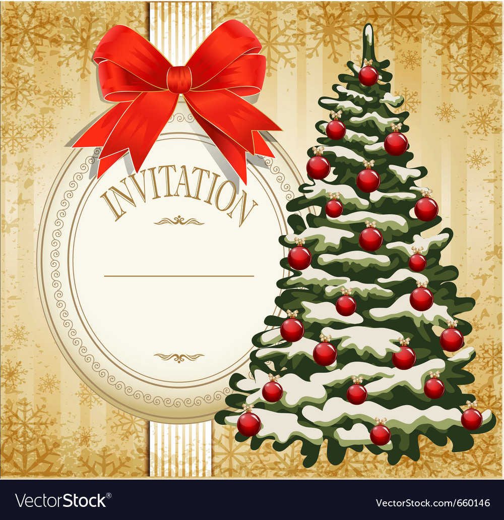 Festive invitation vector | Price: 1 Credit (USD $1)