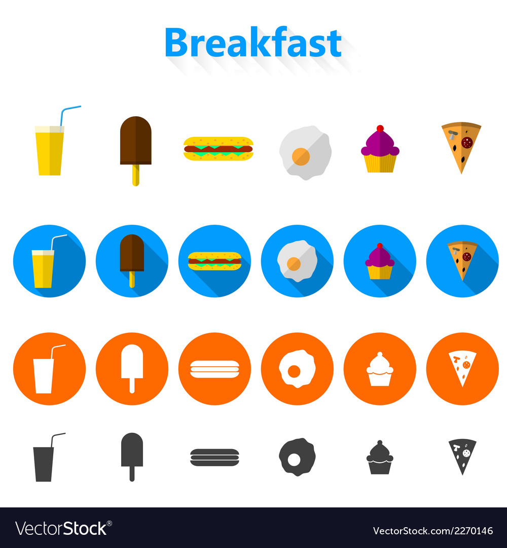 Icons for fast food vector | Price: 1 Credit (USD $1)