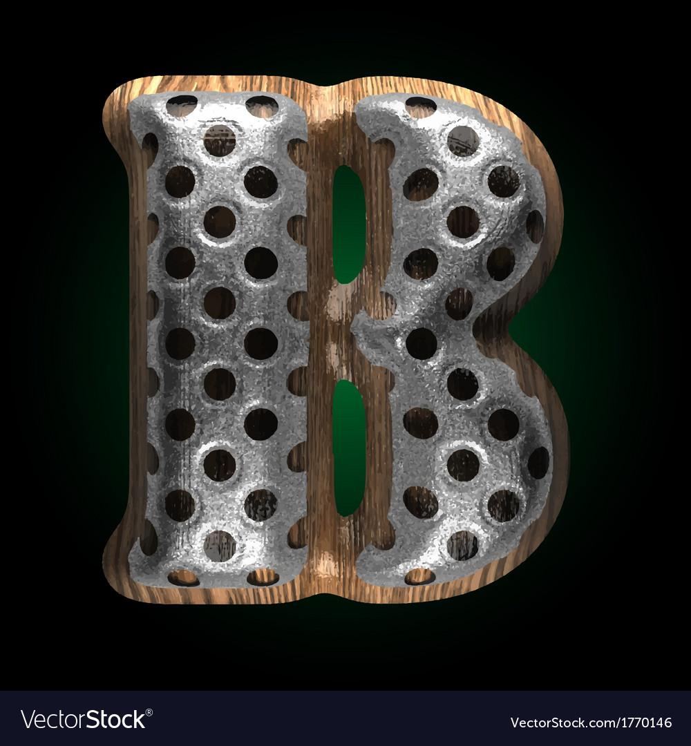 Metal and wood figure b vector | Price: 1 Credit (USD $1)