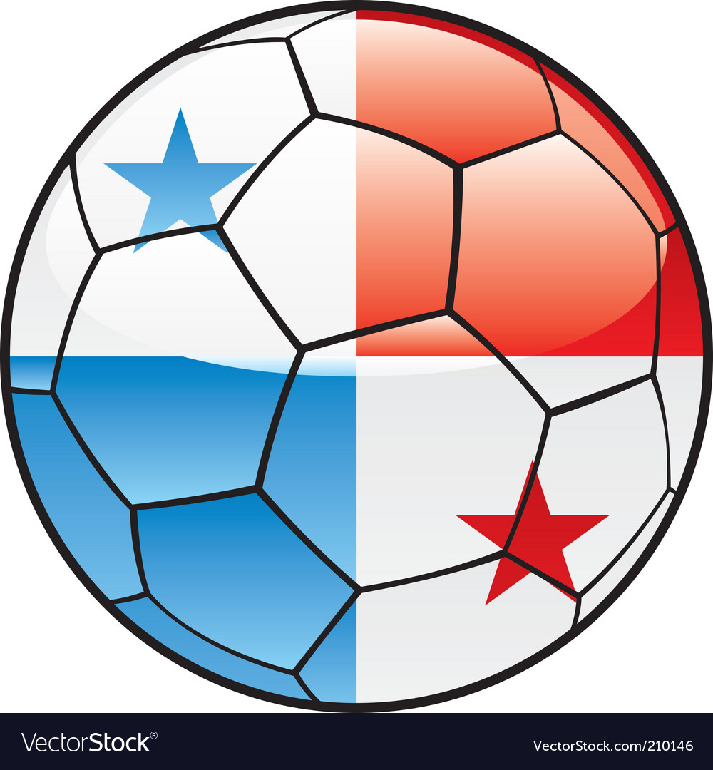 Panama flag on soccer ball vector | Price: 1 Credit (USD $1)