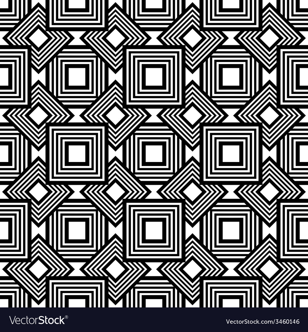 Seamless geometric pattern black and white simple vector   Price: 1 Credit (USD $1)