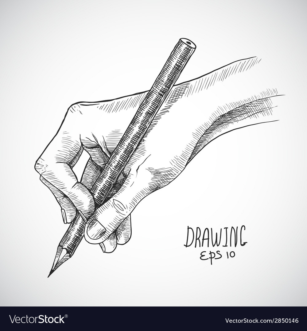 Sketch hand pencil vector | Price: 1 Credit (USD $1)