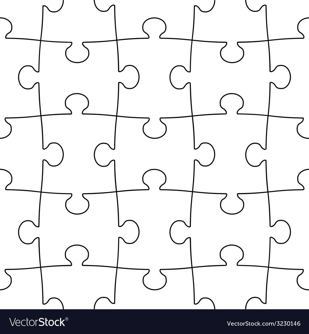Transparent seamless puzzle vector | Price: 1 Credit (USD $1)