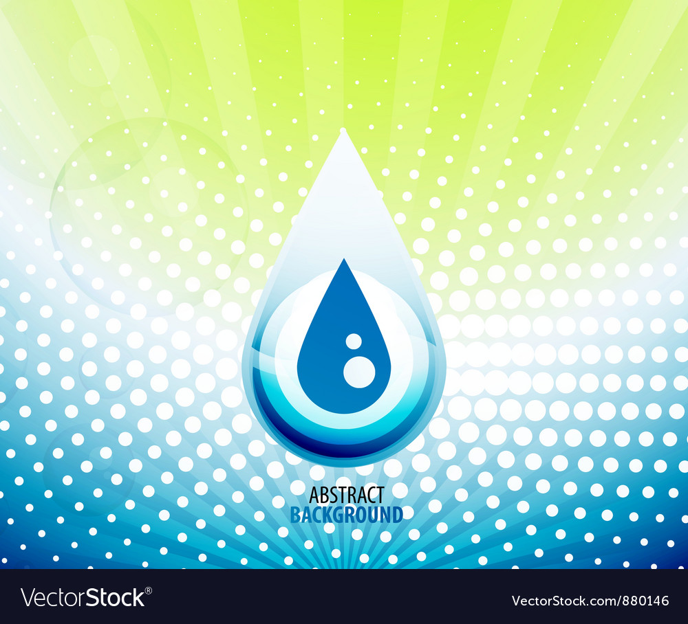 Water drop background vector | Price: 1 Credit (USD $1)