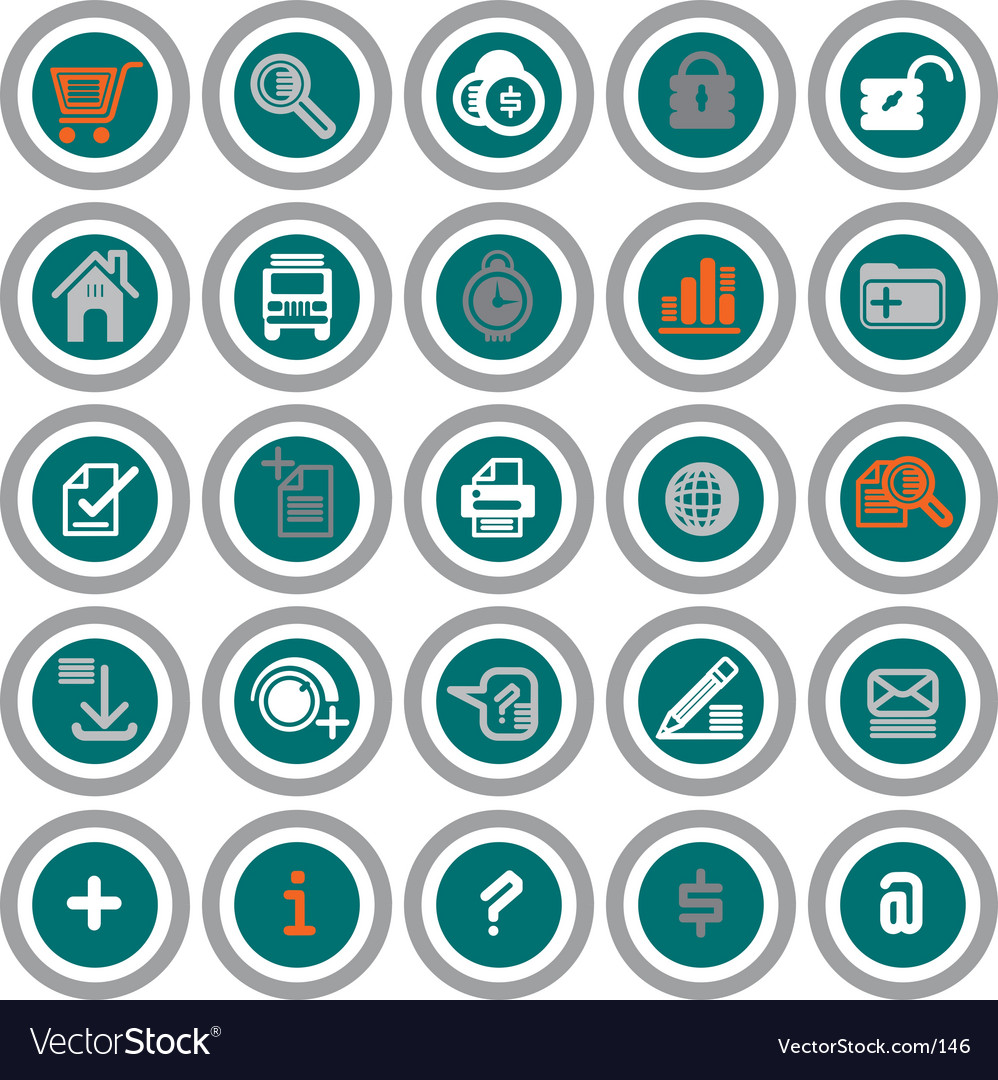 Web icons circles vector | Price: 1 Credit (USD $1)