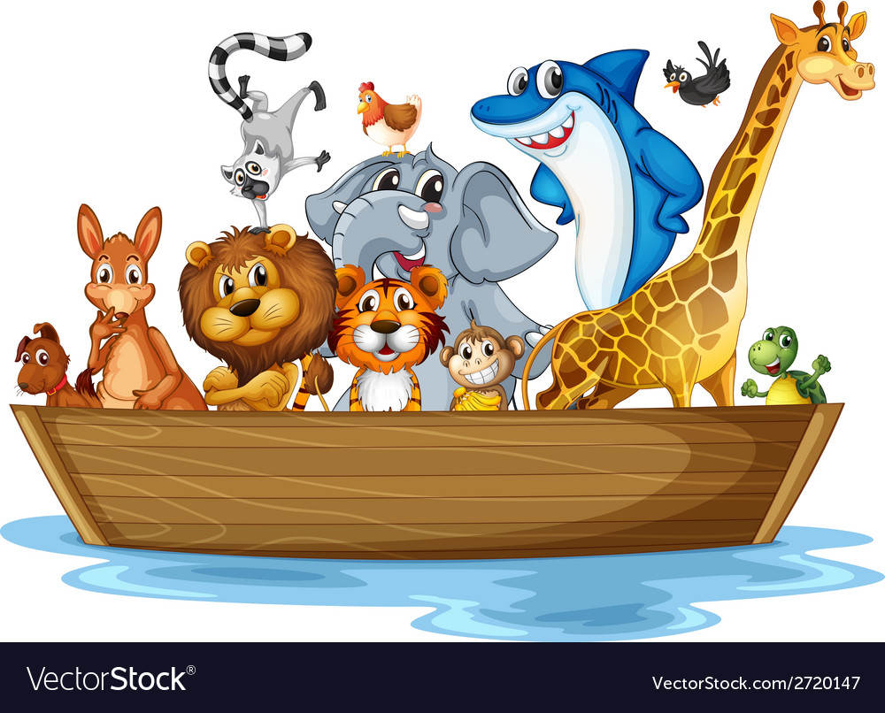 Animal on boat vector | Price: 1 Credit (USD $1)