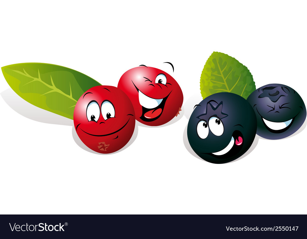 Blueberry and cranberry cartoon vector | Price: 1 Credit (USD $1)