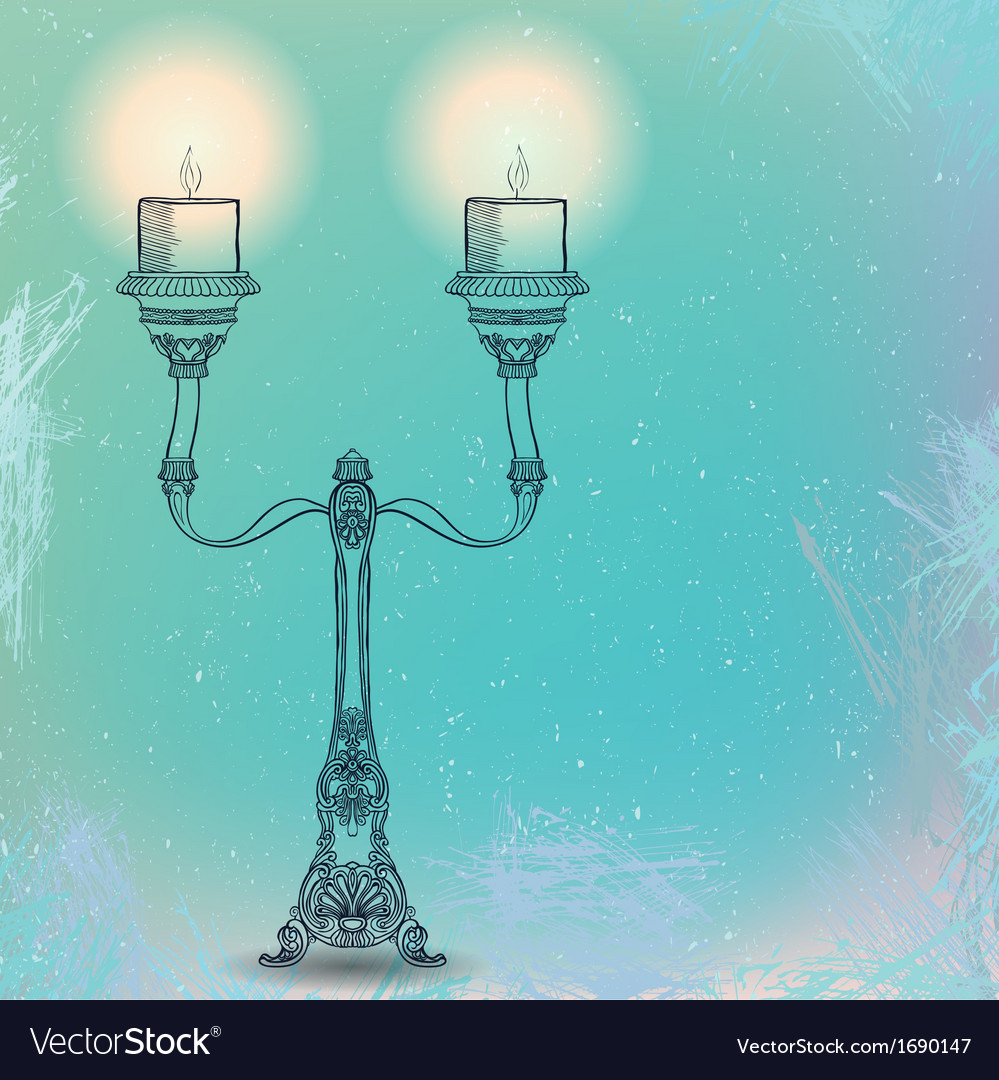 Candlestick with two stems vector | Price: 1 Credit (USD $1)