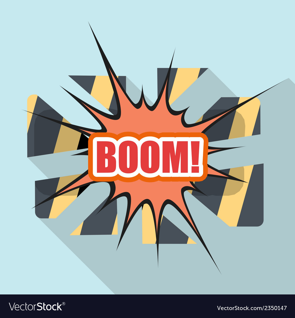 Cartoon boom design element for the site vector | Price: 1 Credit (USD $1)