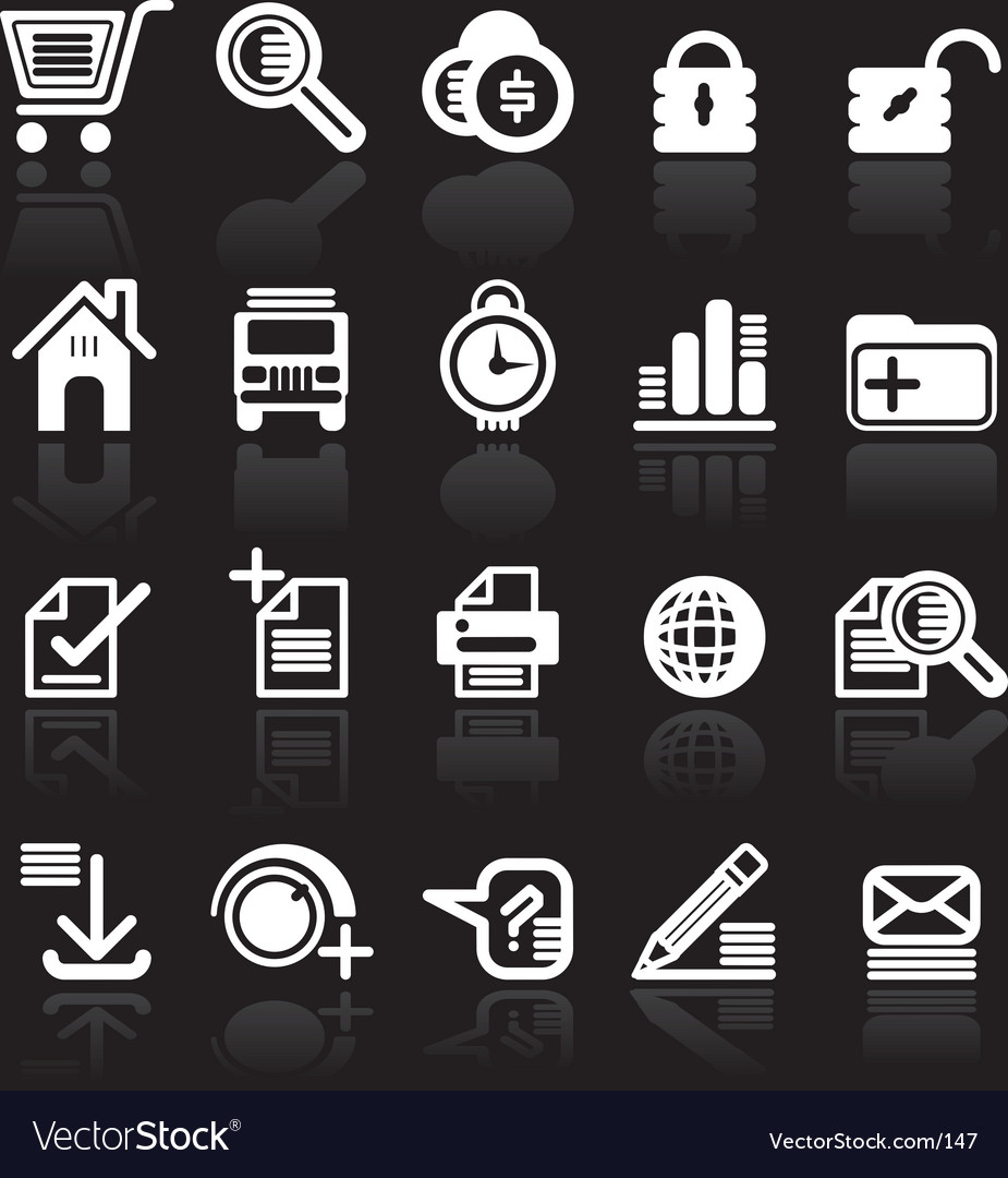 Essential web style icons vector | Price: 1 Credit (USD $1)