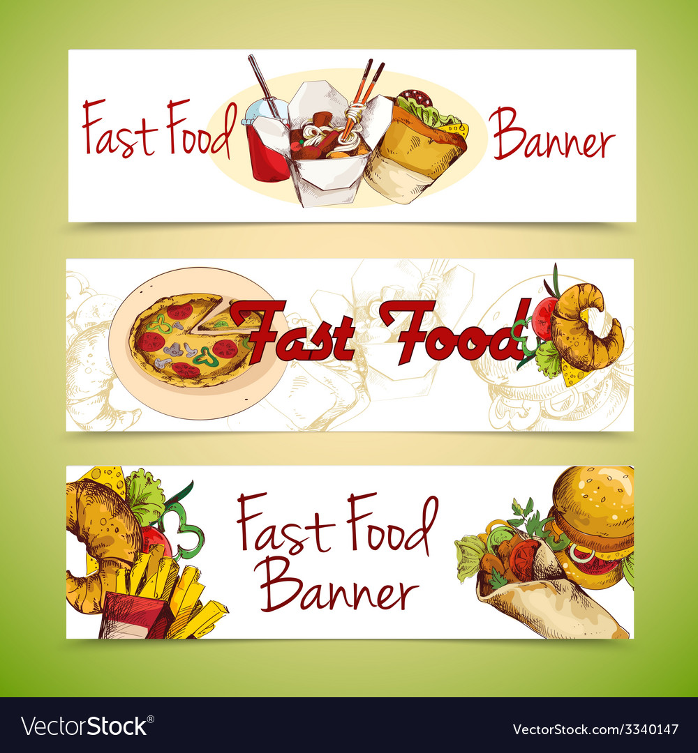 Fast food banners vector | Price: 1 Credit (USD $1)