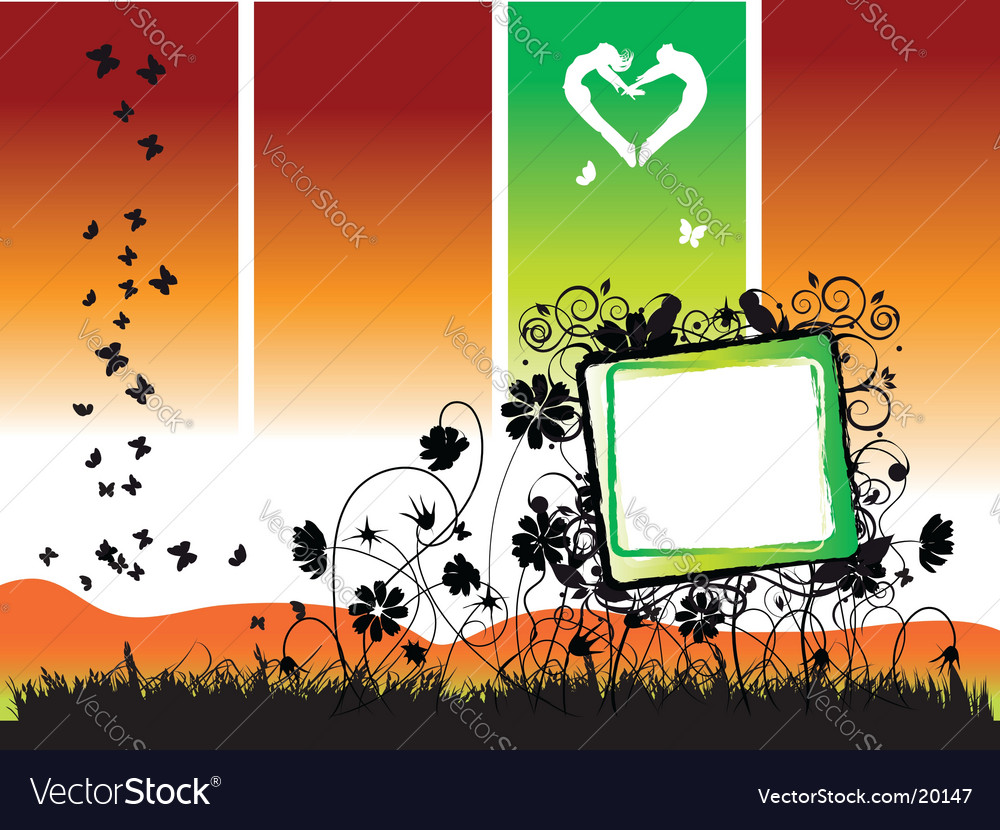 Floral frame nature vector | Price: 1 Credit (USD $1)