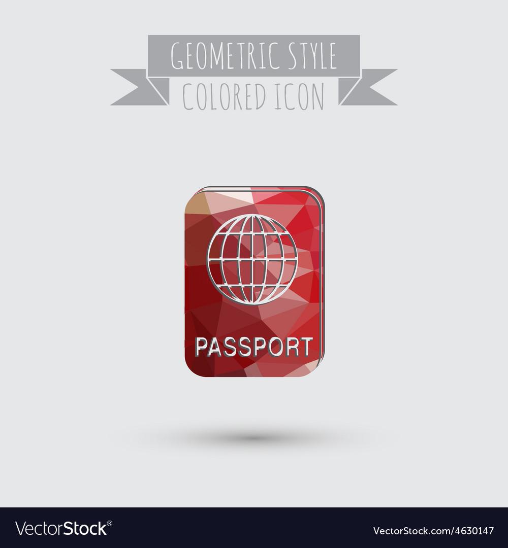 International passport symbol of travel icon vector | Price: 1 Credit (USD $1)