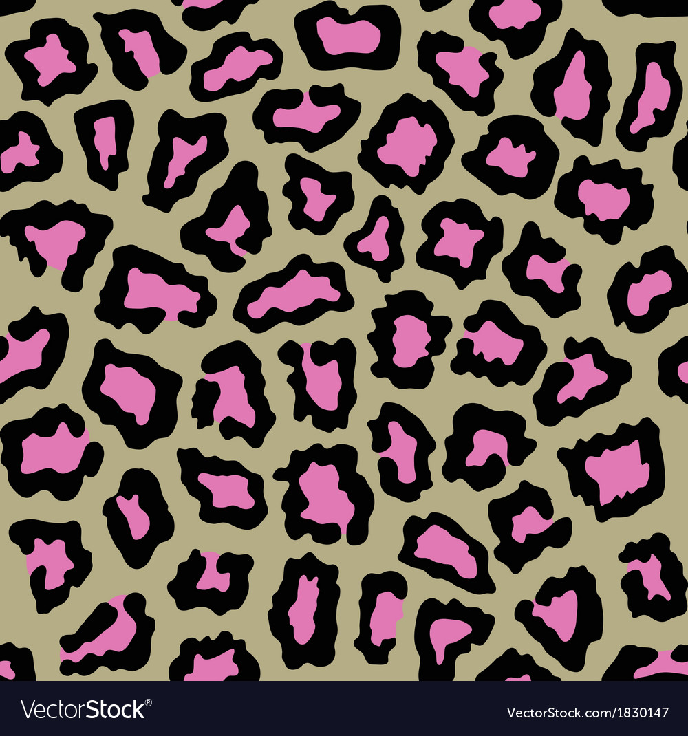 Leopard seamless background with pink spots vector | Price: 1 Credit (USD $1)