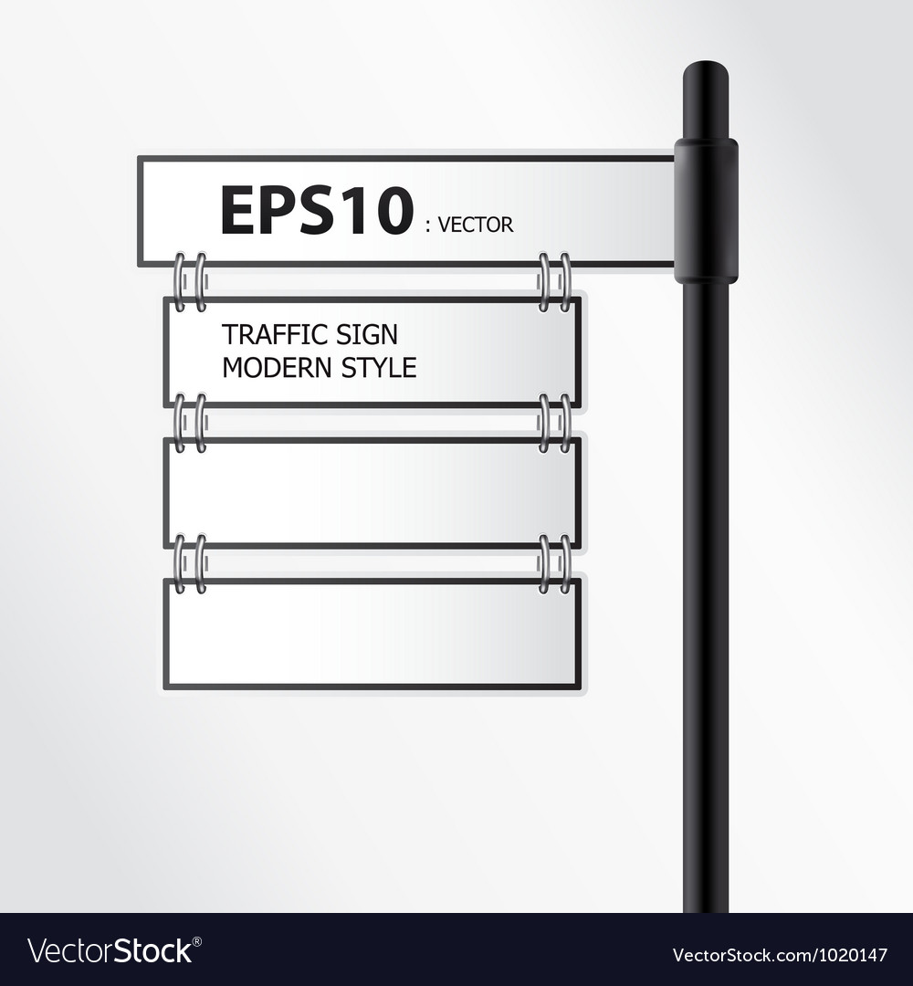 Modern traffic sign vector | Price: 1 Credit (USD $1)