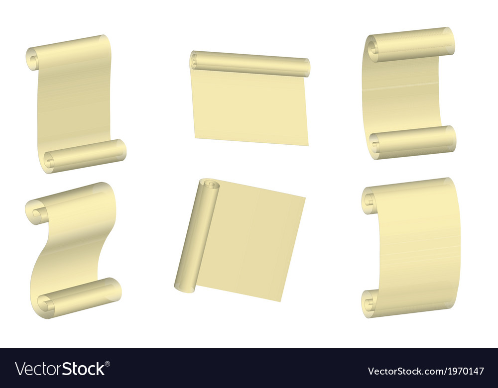 Parchment set vector | Price: 1 Credit (USD $1)