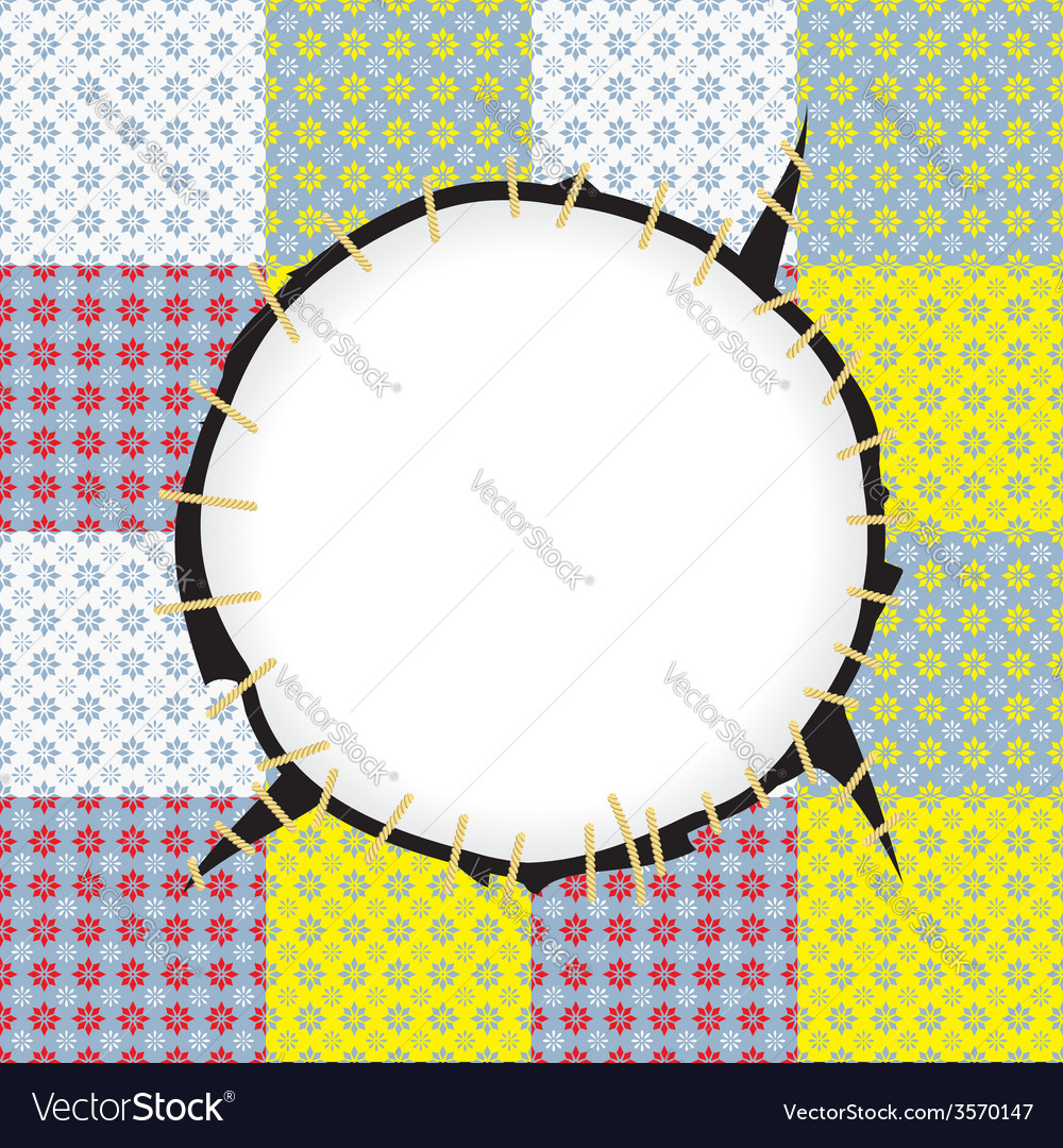 Round patch frame vector | Price: 1 Credit (USD $1)