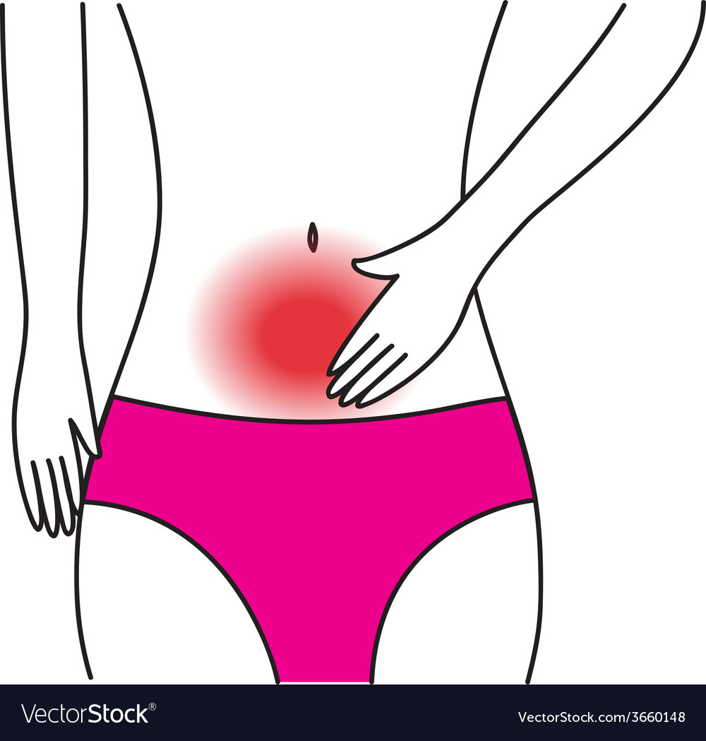 Abdominal pains 01 vector | Price: 1 Credit (USD $1)