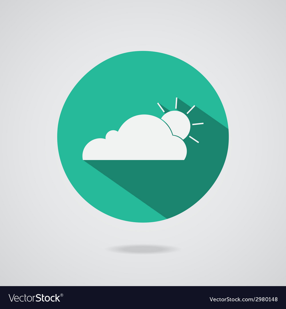 Abstract cloud icon teal button vector | Price: 1 Credit (USD $1)