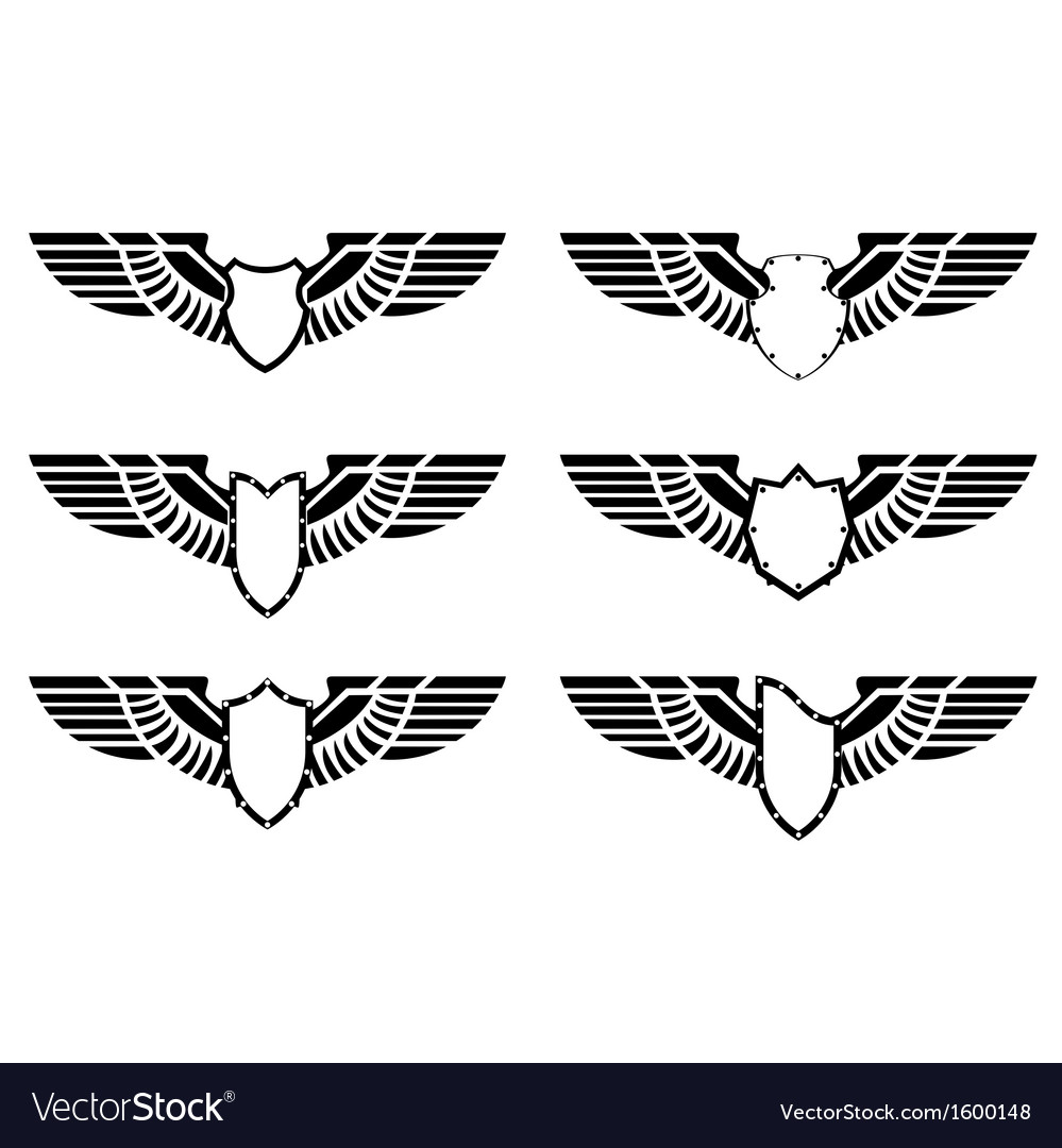 Abstract wings and shield vector   Price: 1 Credit (USD $1)