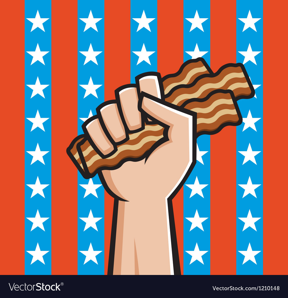 American bacon vector | Price: 1 Credit (USD $1)