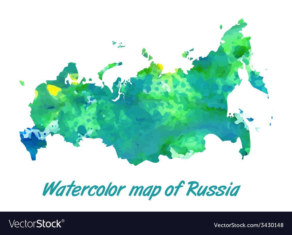 The contour map of the russian federation vector | Price: 1 Credit (USD $1)