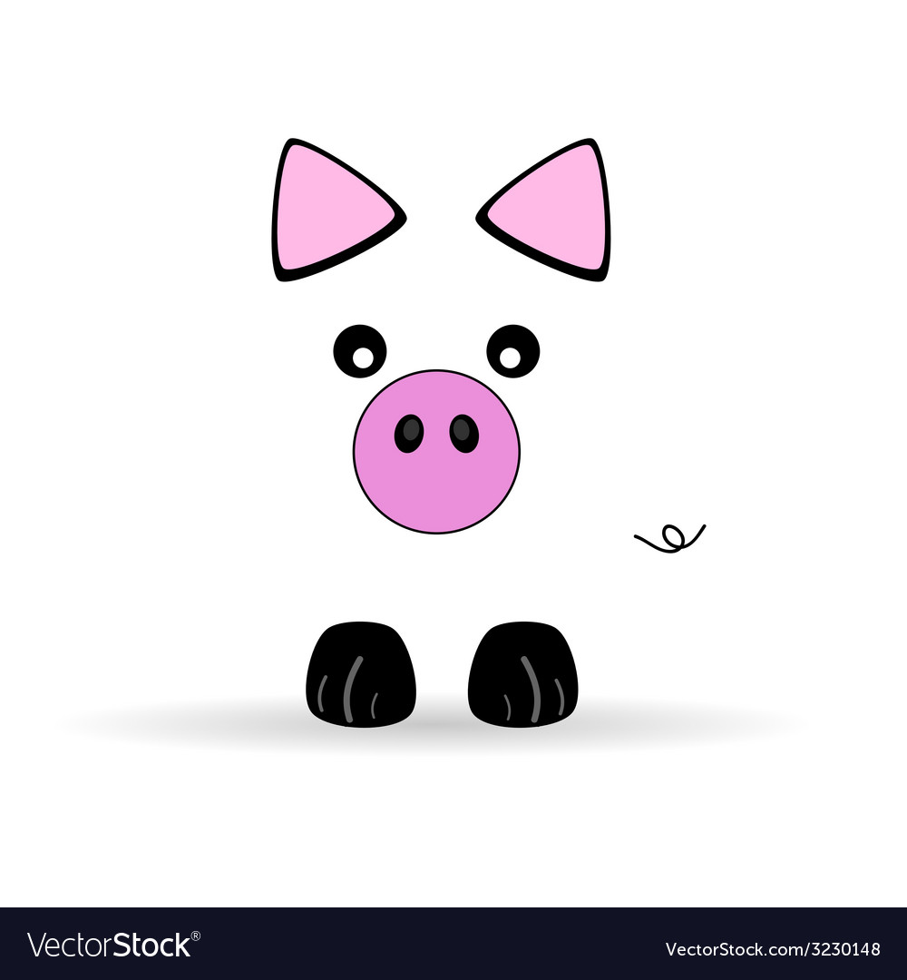 Cute little pig vector | Price: 1 Credit (USD $1)