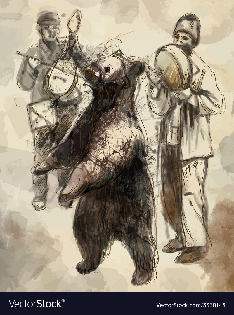 Dancing bear vector   Price: 3 Credit (USD $3)