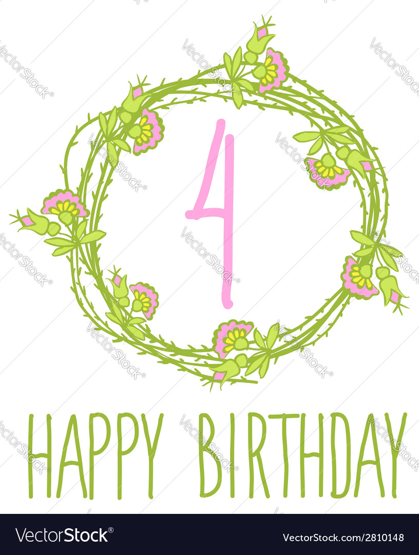 Happy birthday card invitation with set vector | Price: 1 Credit (USD $1)