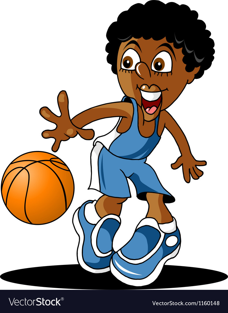 Junior basketball player vector | Price: 1 Credit (USD $1)