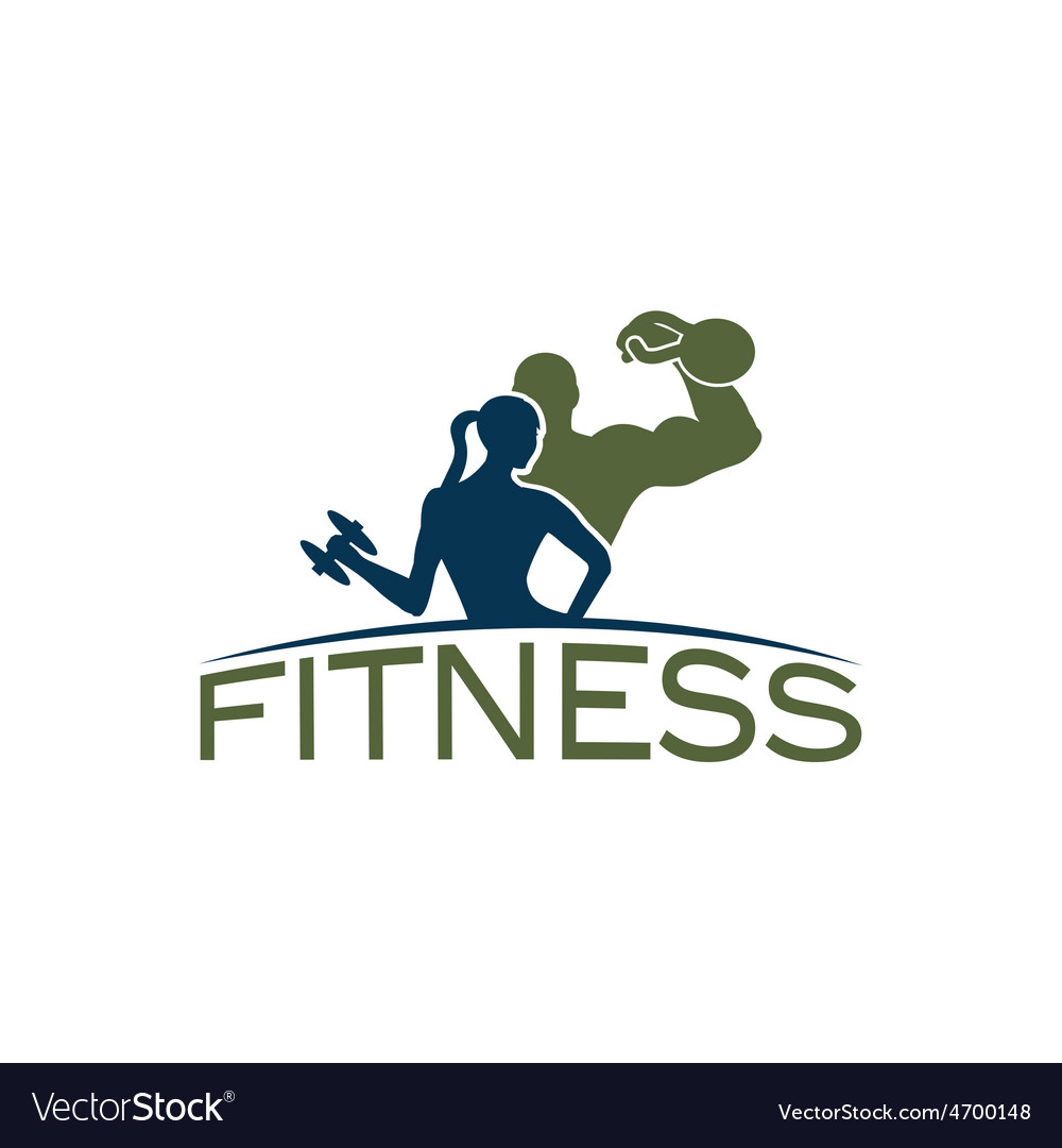 Man and woman of fitness silhouette character vector | Price: 1 Credit (USD $1)