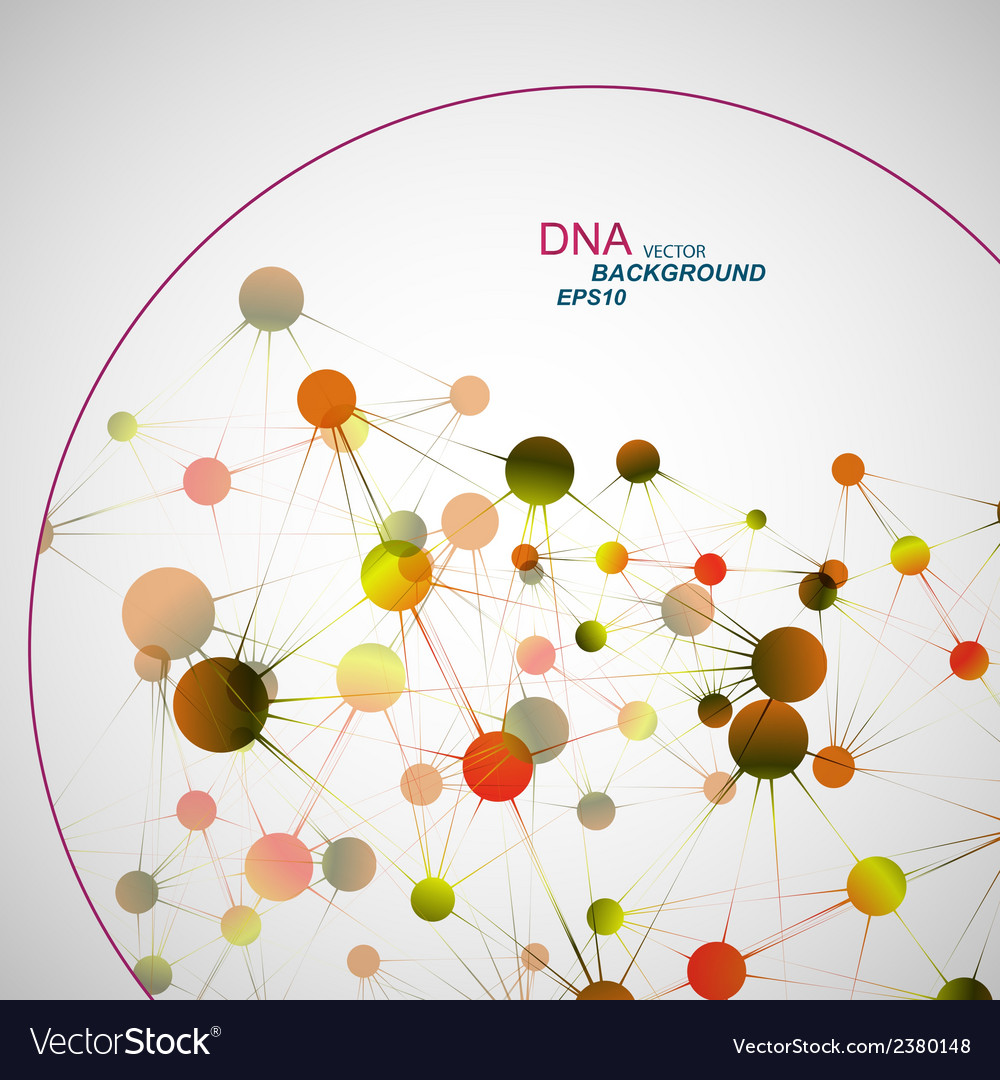 Network connection and dna eps10 vector | Price: 1 Credit (USD $1)