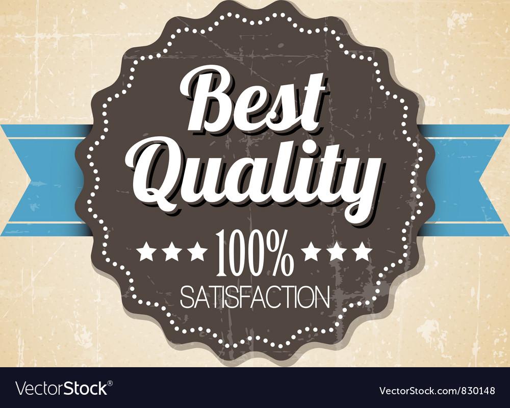 Quality retro label blue dots vector | Price: 1 Credit (USD $1)